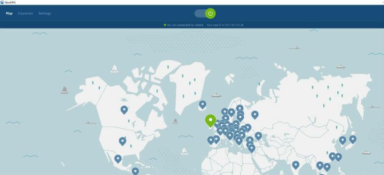 NordVPN review -Connected to Ireland