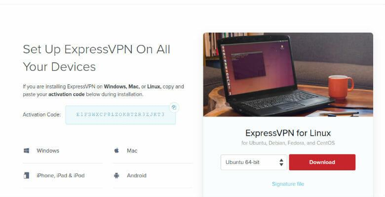 ExpressVPN Ubuntu downloads