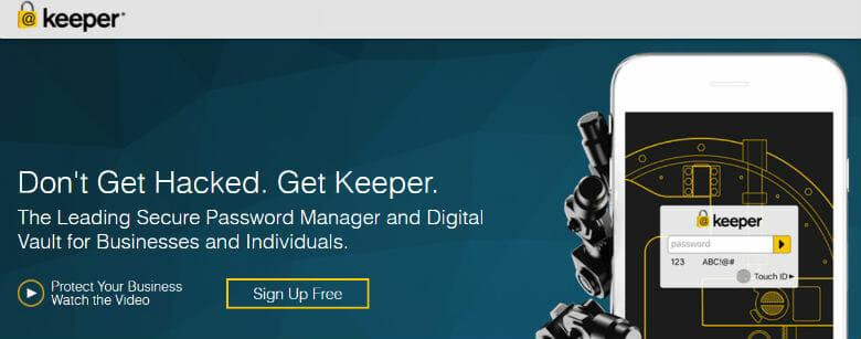Sign up with Keeper Password Management