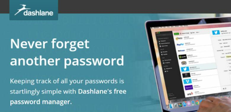 Sign up with Dashlane Pasword Manager