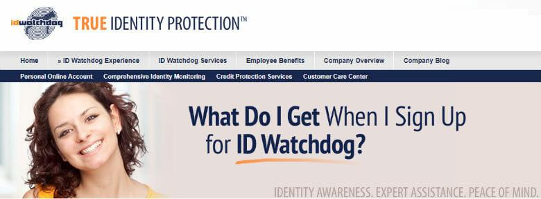 Sign up with ID Watchdog