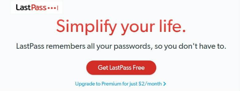Sign up with LastPass Password Manager