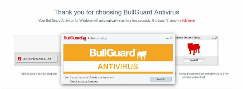Bullguard review - Installation in process