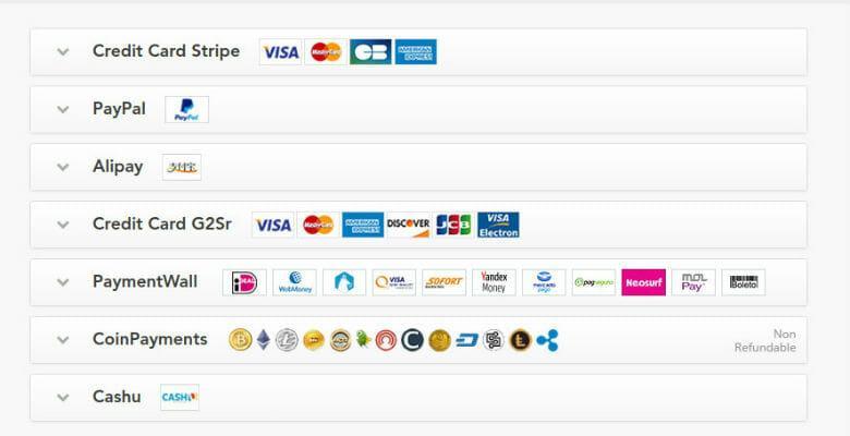 PureVPN Online payment options