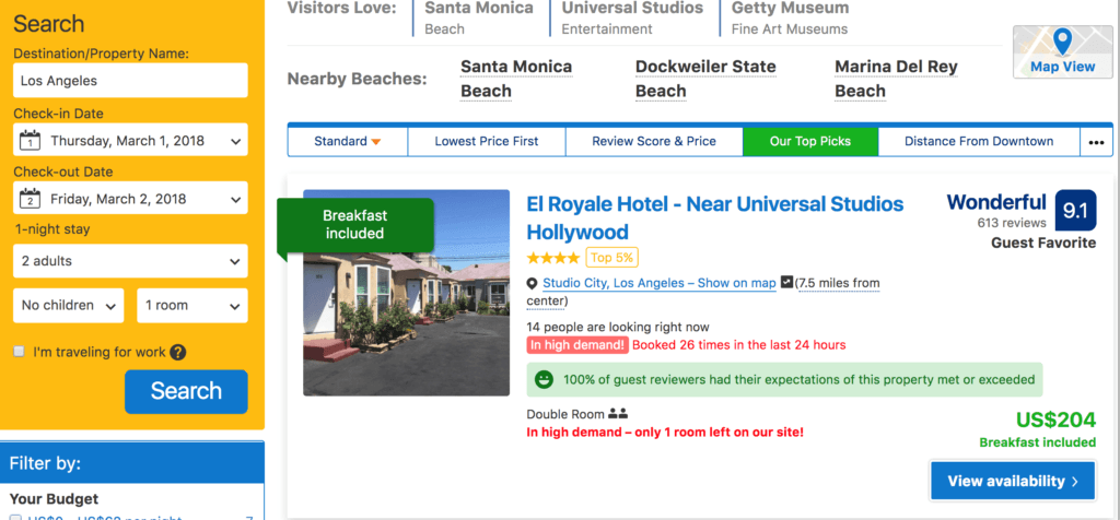 hotel booking without VPN