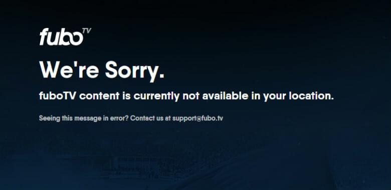 Unblock FuboTV outside USA