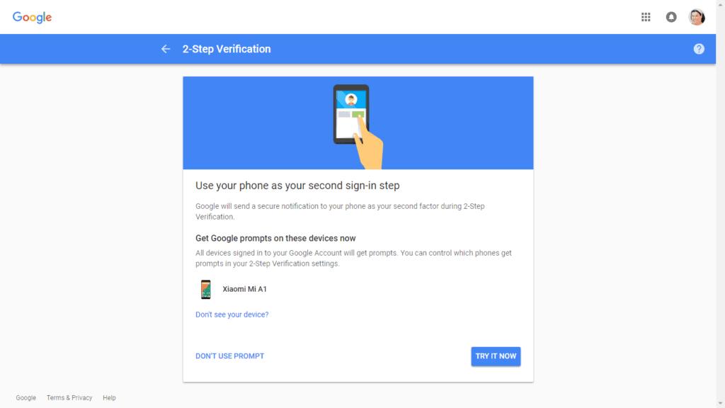 2fa gmail step 3 b