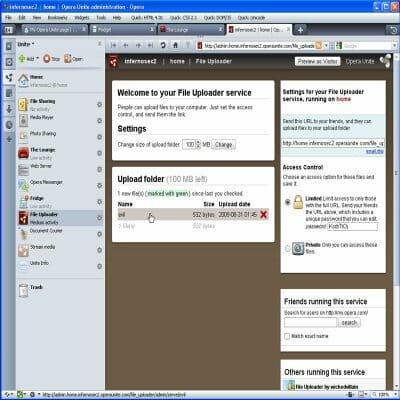 Opera Unite CSRF ing a file upload on File Uploader
