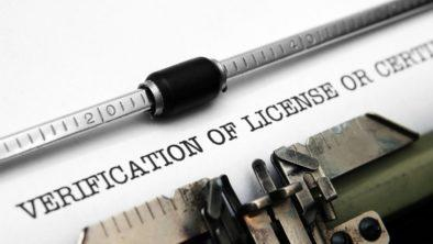 Professional License Verification